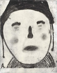 Martin Assig. Beute 101, 2008, charcoal and wax on paper, 30 x 23,5 cm
